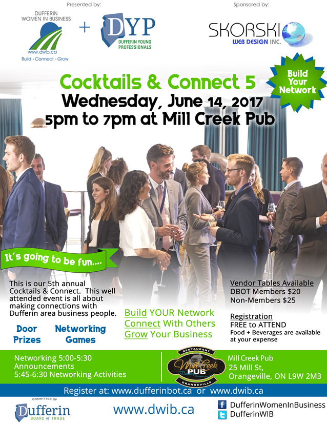 DWIB and Dufferin Young Professionals present Cocktails and Connect 5